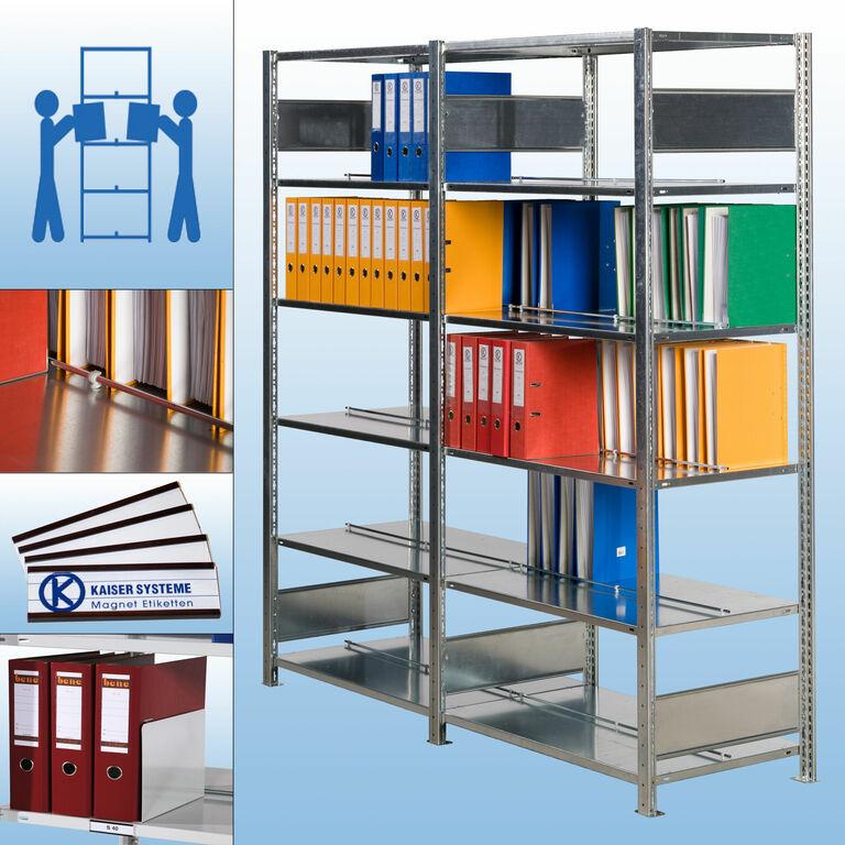 s40 doppelregal verzinkt von kaiser systeme. Black Bedroom Furniture Sets. Home Design Ideas