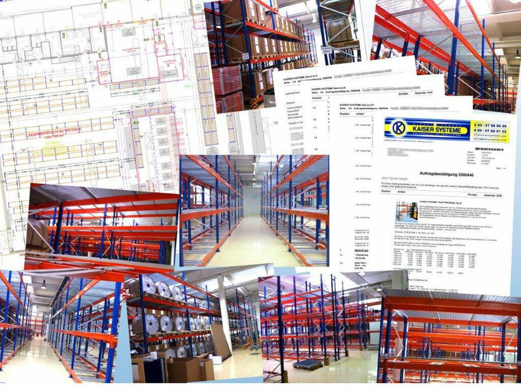palettenregal anlagen projekte und planung von kaiser systeme. Black Bedroom Furniture Sets. Home Design Ideas